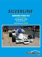 Tameo Kits: Model car kit 1/43 scale - Arrows Ford FA1 Varig #36 - Riccardo Patrese (IT) - Brazilian Formula 1 Grand Prix 1978 - photo-etched parts, rubber parts, water slide decals, assembly instructions and painting instructions