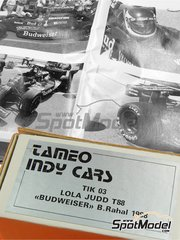 Tameo Kits: Model car kit 1/43 scale - Lola Judd T88 Budweiser #1 - Bobby Rahal (US) - Indy 1988 - photo-etched parts, turned metal parts, water slide decals, white metal parts and assembly instructions