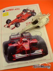 Tameo Kits: Model car kit 1/24 scale - Ferrari F1 2000 Marlboro #3, 4 - Michael Schumacher (DE), Rubens Barrichello (BR) - Japan Grand Prix 2000 - photo-etched parts, turned metal parts, water slide decals, white metal parts and assembly instructions