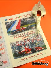 Tameo Kits: Model car kit 1/24 scale - Ferrari F2002 Marlboro #1, 2 - Michael Schumacher (DE), Rubens Barrichello (BR) - French Grand Prix 2002 - photo-etched parts, turned metal parts, water slide decals, white metal parts and assembly instructions