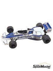 Tameo Kits: Model car kit 1/43 scale - Brabham BMW BT52 Parmalat #5, 6 - Nelson Piquet (BR), Riccardo Patrese (IT) - Brazilian Formula 1 Grand Prix 1983 - photo-etched parts, turned metal parts, water slide decals, white metal parts and assembly instructions