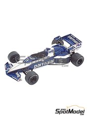 Tameo Kits: Model car kit 1/43 scale - Brabham BMW BT52 Parmalat #5, 6 - Nelson Piquet (BR), Riccardo Patrese (IT) - European Formula 1 Grand Prix 1983 - photo-etched parts, turned metal parts, water slide decals, white metal parts and assembly instructions