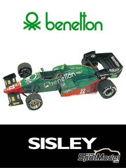 Tameo Kits: Model car kit 1/43 scale - Alfa Romeo 184T Benetton #22 - Eddie Cheever (US), Riccardo Patrese (IT) - Italian Grand Prix 1984 - photo-etched parts, turned metal parts, water slide decals, white metal parts and assembly instructions