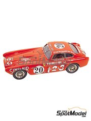Tameo Kits: Model car kit 1/43 scale - Ferrari 340 Mexico Coupe #14, 16, 20 - Alberto Ascari (IT) + Giuseppe Scotuzzi (IT), Luigi Villoresi (IT) + Franco Cornacchia (IT), Luigi Chinetti (IT) + Jean Lucas (FR) - Carrera Panamericana 1952 - photo-etched parts, turned metal parts, water slide decals, white metal parts and assembly instructions