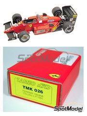 Tameo Kits: Model car kit 1/43 scale - Ferrari 156/85B #27, 28 - Michele Alboreto (IT), Stefan Johansson (SE) - Italian Grand Prix 1985 - photo-etched parts, turned metal parts, water slide decals, white metal parts and assembly instructions