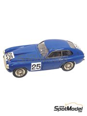 Tameo Kits: Model car kit 1/43 scale - Ferrari 195S Coupe Touring #25 - Raymond Sommer (FR), Dorino Serafini (IT) - 24 Hours Le Mans 1950 - photo-etched parts, turned metal parts, water slide decals, white metal parts and assembly instructions