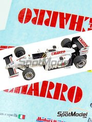 Tameo Kits: Model car kit 1/43 scale - AGS Motori Moderni JH21c Charro #31 - Ivan Capelli (IT) - Italian Grand Prix 1986 - photo-etched parts, turned metal parts, water slide decals, white metal parts and assembly instructions