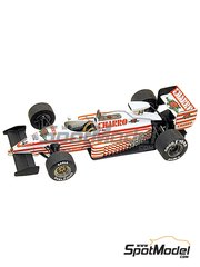 Tameo Kits: Model car kit 1/43 scale - AGS Cosworth JH22 Charro #14 - Pascal Fabre (FR) - Monaco Grand Prix 1987 - photo-etched parts, turned metal parts, water slide decals, white metal parts and assembly instructions