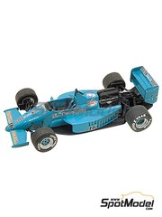Tameo Kits: Model car kit 1/43 scale - March Cosworth 871 Rizla+ Leyton House #16 - Ivan Capelli (IT) - Monaco Formula 1 Grand Prix 1987 - photo-etched parts, turned metal parts, water slide decals, white metal parts and assembly instructions