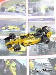 Tameo Kits: Model car kit 1/43 scale - Coloni Cosworth CF187 #32 - Nicola Larini (IT) - Spanish Grand Prix 1987 - photo-etched parts, turned metal parts, water slide decals, white metal parts and assembly instructions