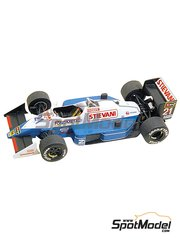 Tameo Kits: Model car kit 1/43 scale - Osella Alfa Romeo FA1/L Landis & GYR #21 - Alex Caffi (IT) - Japanese Formula 1 Grand Prix 1987 - photo-etched parts, turned metal parts, water slide decals, white metal parts and assembly instructions