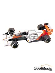 Tameo Kits: Model car kit 1/43 scale - McLaren Honda MP4/5 Marlboro #1, 2 - Ayrton Senna (BR), Alain Prost (FR) - Brazilian Formula 1 Grand Prix 1989 - photo-etched parts, turned metal parts, water slide decals, white metal parts and assembly instructions
