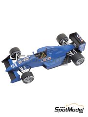 Tameo Kits: Model car kit 1/43 scale - Ligier Cosworth JS33 Gitanes #25, 26 - Rene Arnoux (FR), Olivier Grouillard (FR) - Monaco Formula 1 Grand Prix 1989 - photo-etched parts, turned metal parts, water slide decals, white metal parts and assembly instructions