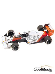 Tameo Kits: Model car kit 1/43 scale - McLaren Honda MP4/5 Marlboro #1, 2 - Ayrton Senna (BR), Alain Prost (FR) - British Formula 1 Grand Prix 1989 - photo-etched parts, turned metal parts, water slide decals, white metal parts and assembly instructions