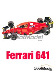 Tameo Kits: Model car kit 1/43 scale - Ferrari 641 Agip #1, 2 - Alain Prost (FR), Nigel Ernest James Mansell (GB) - USA Formula 1 Grand Prix 1990 - photo-etched parts, turned metal parts, water slide decals, white metal parts and assembly instructions