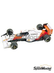 Tameo Kits: Model car kit 1/43 scale - McLaren Honda MP4/5B Marlboro #27, 28 - Ayrton Senna (BR), Gerhard Berger (AT) - USA Grand Prix 1990 - photo-etched parts, turned metal parts, water slide decals, white metal parts and assembly instructions