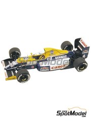 Tameo Kits: Model car kit 1/43 scale - Williams Renault FW13B Canon #5, 6 - Riccardo Patrese (IT), Thierry Boutsen (BE) - USA Formula 1 Grand Prix 1990 - photo-etched parts, turned metal parts, water slide decals, white metal parts and assembly instructions
