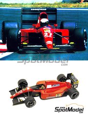 Tameo Kits: Model car kit 1/43 scale - Ferrari 643 Marlboro #27, 28 - Alain Prost (FR), Jean Alesi (FR) - French Formula 1 Grand Prix 1991 - photo-etched parts, turned metal parts, water slide decals, white metal parts and assembly instructions