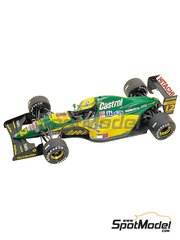 Tameo Kits: Model car kit 1/43 scale - Lotus Ford 107 Hitachi #11, 12 - Johnn 'Johnny' Herbert (GB), Mika Häkkinen (FI) - Italian Grand Prix 1992 - photo-etched parts, turned metal parts, water slide decals, white metal parts and assembly instructions