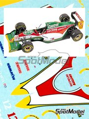 Tameo Kits: Model car kit 1/43 scale - Lotus Ford 107b Castrol #11, 12 - Johnn 'Johnny' Herbert (GB), Alessandro 'Alex' Zanardi (IT) - European Grand Prix 1993 - photo-etched parts, turned metal parts, water slide decals, white metal parts and assembly instructions