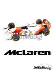 Tameo Kits: Model car kit 1/43 scale - McLaren Ford MP4/8 Shell #7, 8 - Ayrton Senna (BR), Michael Andretti (US) - European Formula 1 Grand Prix 1993 - photo-etched parts, turned metal parts, water slide decals, white metal parts and assembly instructions