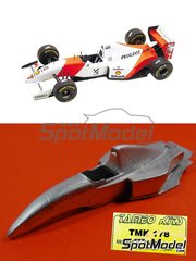Tameo Kits: Model car kit 1/43 scale - McLaren Peugeot MP4/9 Shell #7, 8 - Mika Häkkinen (FI), Martin Brundle (GB) - Brazilian Formula 1 Grand Prix 1994 - photo-etched parts, turned metal parts, water slide decals, white metal parts and assembly instructions