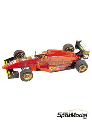 Tameo Kits: Model car kit 1/43 scale - Ferrari 412T1B Marlboro #27, 28 - Jean Alesi (FR), Gerhard Berger (AT) - German Formula 1 Grand Prix 1994 - photo-etched parts, turned metal parts, water slide decals, white metal parts and assembly instructions
