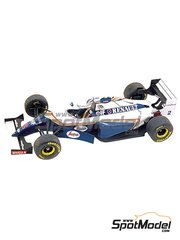 Tameo Kits: Maqueta de coche escala 1/43 - Williams Renault FW16 Rothmans Nº 2, 0 - Nigel Ernest James Mansell (GB), Damon Hill (GB) - Gran Premio de Australia 1994 - fotograbados, piezas de goma, piezas de metal torneado, calcas de agua, piezas de metal blanco y manual de instrucciones