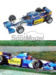Tameo Kits: Model car kit 1/43 scale - Benetton Renault B195 Bitburger #1, 2 - Michael Schumacher (DE), Johnn 'Johnny' Herbert (GB) - Spanish Formula 1 Grand Prix 1995 - photo-etched parts, turned metal parts, water slide decals, white metal parts and assembly instructions