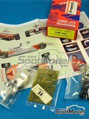 Tameo Kits: Model car kit 1/43 scale - McLaren Mercedes MP4/11 Marlboro #7, 8 - Mika Häkkinen (FI), David Coulthard (GB) - Hungary Grand Prix 1996 - photo-etched parts, turned metal parts, water slide decals, white metal parts and assembly instructions