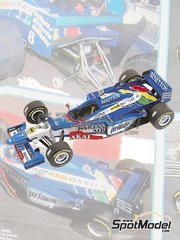 Tameo Kits: Model car kit 1/43 scale - Benetton Renault B197 Korean Air #7, 8 - Gerhard Berger (AT), Jean Alesi (FR) - Monaco Formula 1 Grand Prix 1997 - photo-etched parts, turned metal parts, water slide decals, white metal parts and assembly instructions
