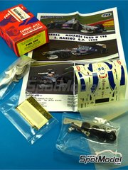 Tameo Kits: Model car kit 1/43 scale - Minardi Ford M198 Fondmetal #22, 23 - Shinji Nakano (JP), Esteban Tuero (AR) - San Marino Formula 1 Grand Prix 1998 - photo-etched parts, turned metal parts, water slide decals, white metal parts and assembly instructions