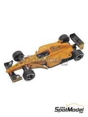 Tameo Kits: Model car kit 1/43 scale - McLaren Mercedes MP4/13 West #9, 10 - Mika Häkkinen (FI), David Coulthard (GB) - Press version 1998 - photo-etched parts, turned metal parts, water slide decals, white metal parts and assembly instructions