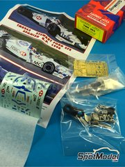 Tameo Kits: Model car kit 1/43 scale - Stewart Ford SF2 HSBC #18, 19 - Rubens Barrichello (BR), Jan Magnussen (DK) - Spanish Formula 1 Grand Prix 1998 - photo-etched parts, turned metal parts, water slide decals, white metal parts and assembly instructions