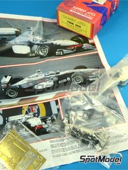 Tameo Kits: Model car kit 1/43 scale - McLaren Mercedes MP4/13 West #9, 10 - Mika Häkkinen (FI), David Coulthard (GB) - Japan Grand Prix 1998 - photo-etched parts, turned metal parts, water slide decals, white metal parts and assembly instructions