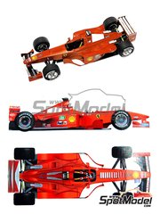 Tameo Kits: Model car kit 1/43 scale - Ferrari F399 Marlboro #3, 4 - Michael Schumacher (DE), Eddie Irvine (GB) - Monaco Formula 1 Grand Prix 1999 - photo-etched parts, turned metal parts, water slide decals, white metal parts and assembly instructions