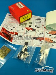 Tameo Kits: Model car kit 1/43 scale - Ferrari F399 Marlboro #3, 4 - Eddie Irvine (GB), Mika Salo (FI) - German Formula 1 Grand Prix 1999 - photo-etched parts, turned metal parts, water slide decals, white metal parts and assembly instructions