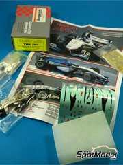 Tameo Kits: Model car kit 1/43 scale - McLaren Mercedes MP4/14 West #1, 2 - Mika Häkkinen (FI), David Coulthard (GB) - Japanese Formula 1 Grand Prix 1999 - photo-etched parts, turned metal parts, water slide decals, white metal parts and assembly instructions