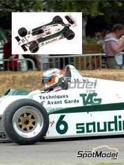 Tameo Kits: Model car kit 1/43 scale - Williams Ford FW08 TAG Saudia #5, 6 - Keijo Erik 'Keke' Rosberg (FI), Derek Daly (IE) - Swedish Grand Prix 1982 - photo-etched parts, turned metal parts, water slide decals, white metal parts and assembly instructions
