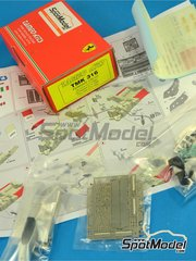 Tameo Kits: Model car kit 1/43 scale - Ferrari 126C2 Fiat #27, 28 - Didier Pironi (FR), Patrick Tambay (FR) - USA Grand Prix 1982 - photo-etched parts, turned metal parts, water slide decals, white metal parts and assembly instructions