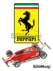 Tameo Kits: Model car kit 1/43 scale - Ferrari 126C2 Fiat #27, 28 - Gilles Villeneuve (CA), Didier Pironi (FR) - USA Grand Prix 1982 - photo-etched parts, turned metal parts, water slide decals, white metal parts and assembly instructions