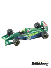 Tameo Kits: Model car kit 1/43 scale - Jordan Ford J191 Fujifilm 7UP #32, 33 - Andrea de Cesaris (IT), Michael Schumacher (DE) - Belgian Formula 1 Grand Prix 1991 - photo-etched parts, turned metal parts, water slide decals, white metal parts and assembly instructions