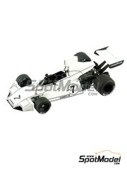 Tameo Kits: Model car kit 1/43 scale - Brabham Ford BT44 Good Year #7, 8 - Carlos Reutemann (AR), Carlos Pace (BR) - Austrian Grand Prix 1974 - photo-etched parts, turned metal parts, water slide decals, white metal parts and assembly instructions