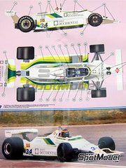 Tameo Kits: Model car kit 1/43 scale - Williams Ford FW07 Ram Racing - Banco Occidental #34 - Emilio de Villota (ES) - Spanish Grand Prix 1980 - photo-etched parts, turned metal parts, water slide decals, white metal parts and assembly instructions