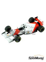 Tameo Kits: Model car kit 1/43 scale - McLaren Ford MP4/8 Marlboro #7, 8 - Ayrton Senna (BR), Mika Häkkinen (FI) - Australian Formula 1 Grand Prix 1993 - photo-etched parts, turned metal parts, water slide decals, white metal parts and assembly instructions