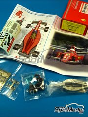 Tameo Kits: Model car kit 1/43 scale - Ferrari F1/89 Marlboro #27,28 - Nigel Mansell (GB), Gerhard Berger (AT) - Hungary Grand Prix 1989 - photo-etched parts, turned metal parts, water slide decals, white metal parts and assembly instructions