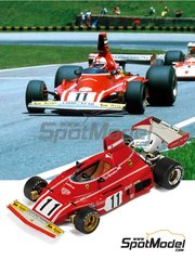 Tameo Kits: Model car kit 1/43 scale - Ferrari 312B3 #11, 12 - Niki Lauda (AT), Clay Regazzoni (CH) - Argentine Grand Prix 1974 - photo-etched parts, turned metal parts, water slide decals, white metal parts and assembly instructions