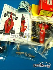 Tameo Kits: Model car kit 1/43 scale - Ferrari F1/90 Marlboro #1, 2 - Alain Prost (FR), Nigel Ernest James Mansell (GB) - French Grand Prix 1990 - photo-etched parts, turned metal parts, water slide decals, white metal parts and assembly instructions
