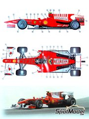Tameo Kits: Model car kit 1/43 scale - Ferrari F10 Banco Santander #7, 8 - Fernando Alonso (ES), Felipe Massa (BR) - Bahrain Grand Prix 2010 - photo-etched parts, turned metal parts, water slide decals, white metal parts and assembly instructions