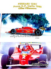 Tameo Kits: Model car kit 1/43 scale - Ferrari 126C Fiat #2 - Gilles Villeneuve (CA) - Giro de Italia Rally 1980 - photo-etched parts, turned metal parts, water slide decals, white metal parts and assembly instructions